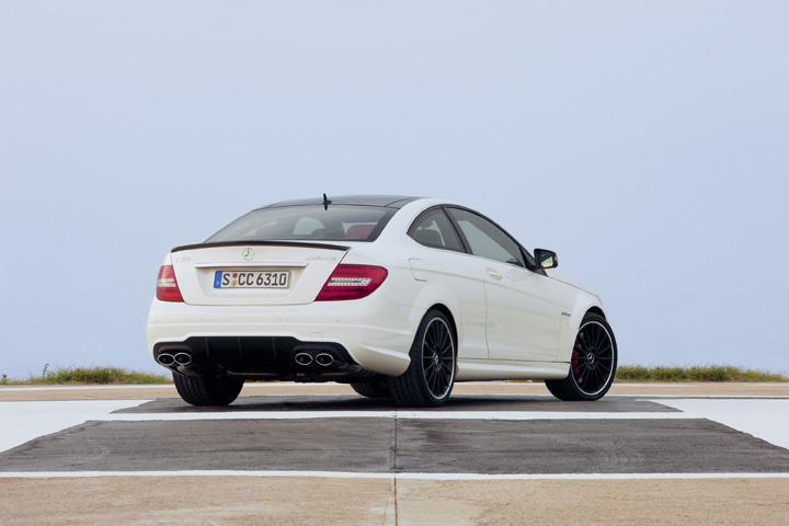 2012 Mercedes-Benz C63AMG coupe rear