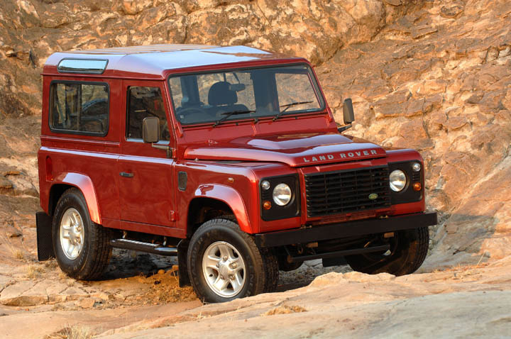Land Rover Defender 90 front view