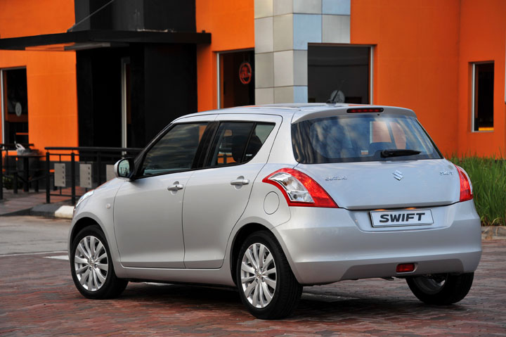 2011 Suzuki Swift rear view