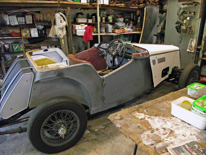 MG TF restoration:Project partly completed